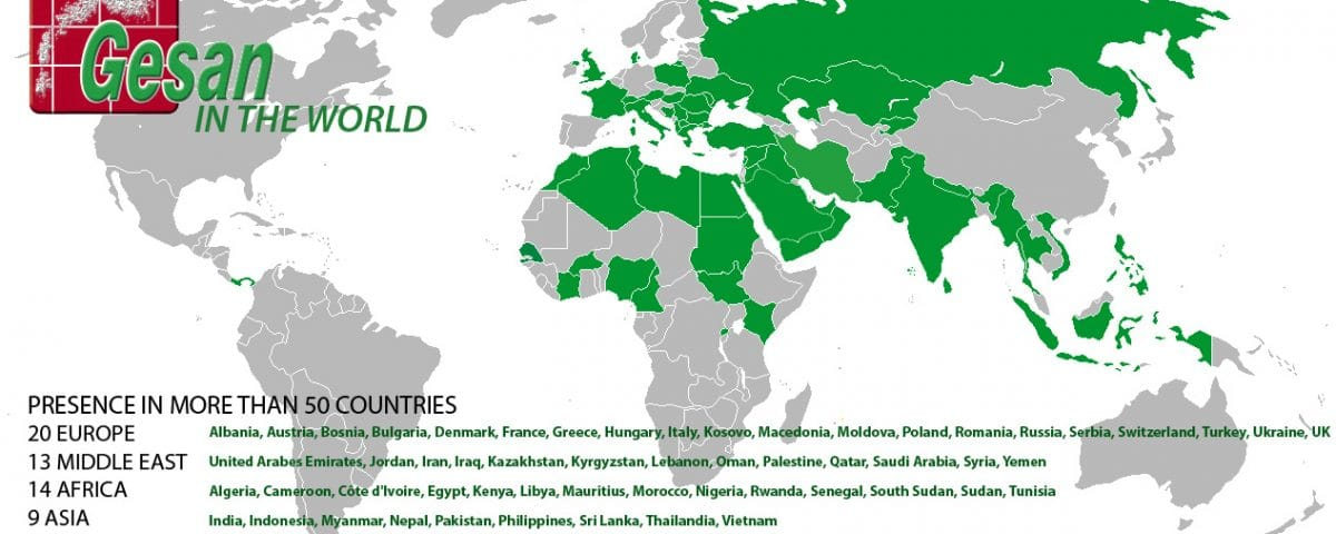 Gesan presence in more than 50 countries