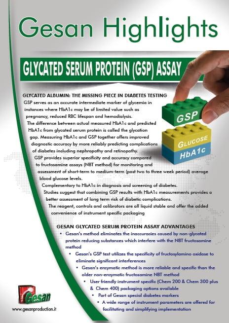 GESAN Glycated Serum Protein GSP Assay