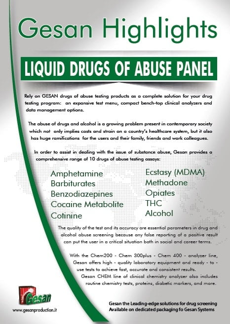 GESAN Liquid Drugs of abuse panel