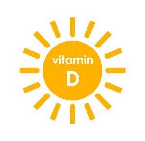 Vitamin D symbol sun icon design